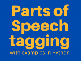 Part of Speech Tagging examples in Python pos tagging